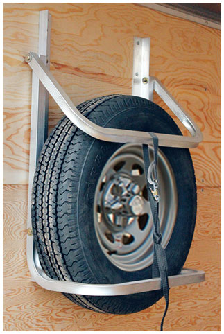 Hoop style spare tire carrier
