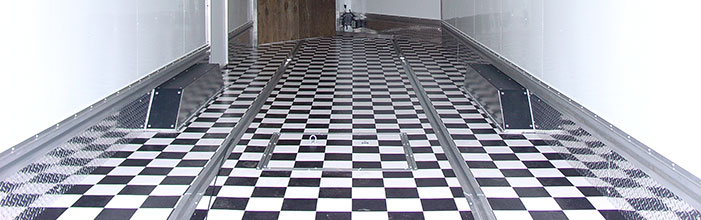 Checkered Vinyl Floor