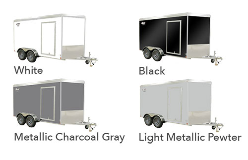 black, white, charcoal gray or light metallic color options