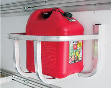 Fuel jug rack kit