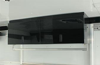 4-Place helmet cabinet black