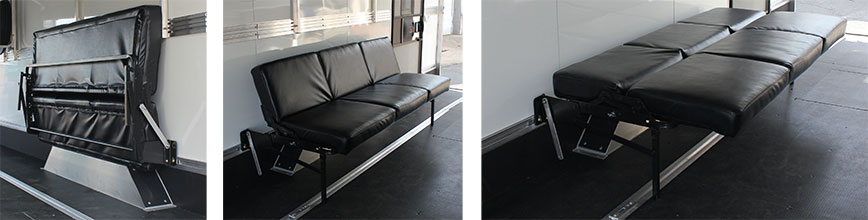 Black folding couch