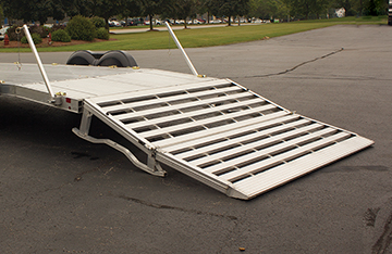 Photo of heavy duty long bi-fold ramp for AUX triailers