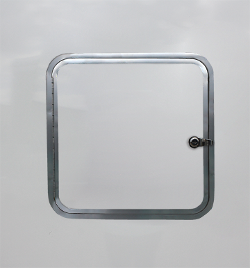 Photo of rounded fuel door