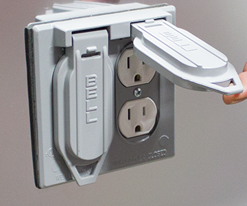 Photo of outdoor outlet