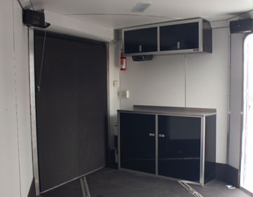 Photo of black v-nose cabinets