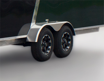 Photo of enclosed trailer axle