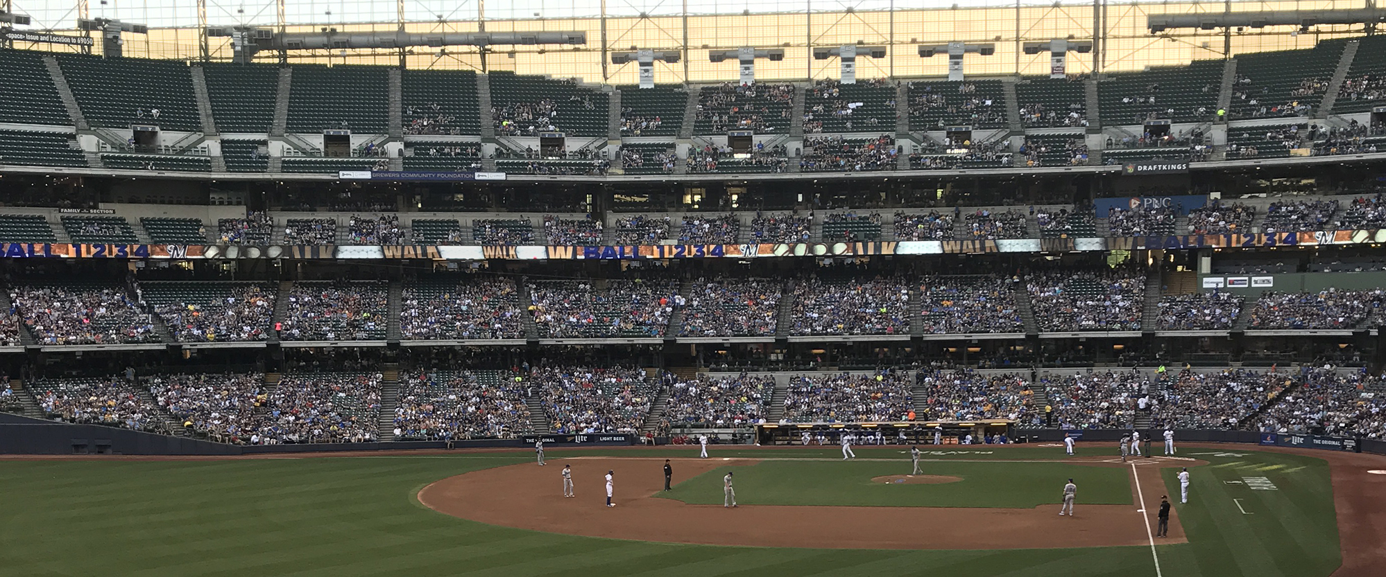 Photo from seats at Miller Park