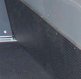 Photo of black quad kick panel